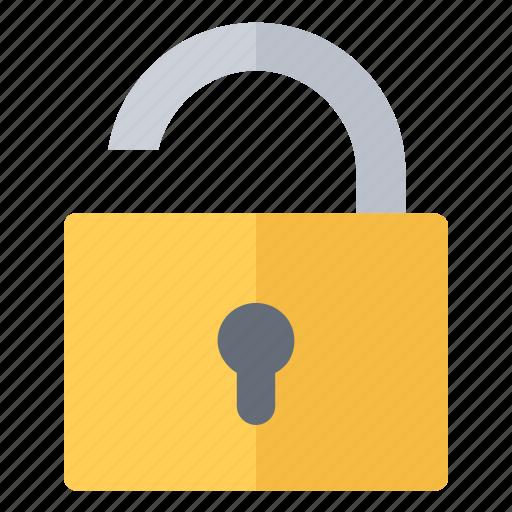 access, lock, opened, padlock, unlock icon