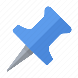 blue, important, pin, pointer icon