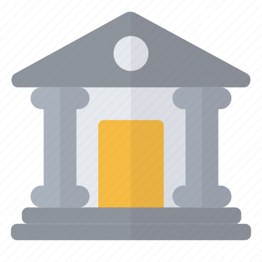 bank, coins, institution, money icon