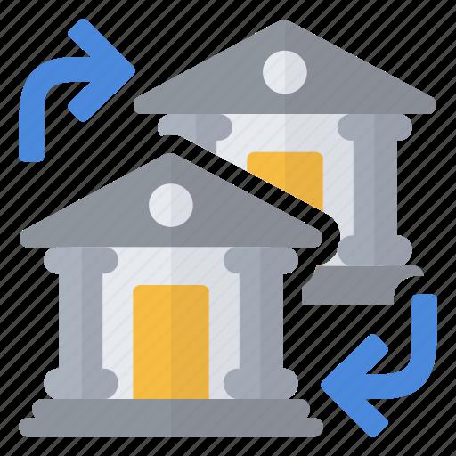 accounts, bank, exchange, money icon