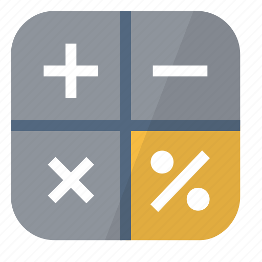 calculator, device, loan, minus, multiply, operations, plus icon