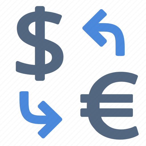 change, currency, dollar, euro, exchange, money, rate icon