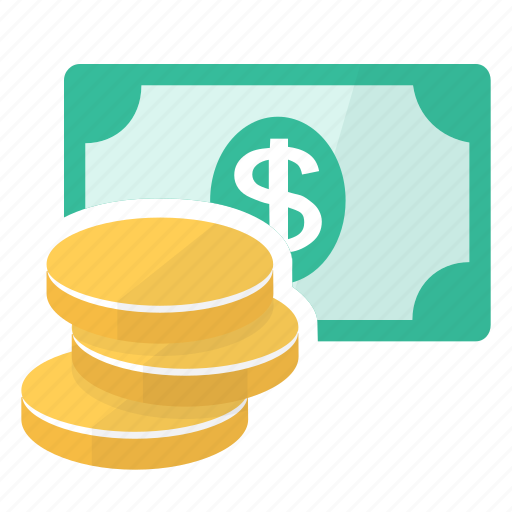 banknote, buy, coins, money, sell, spend icon