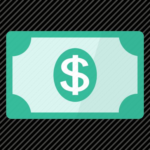 banknote, dollar, money icon