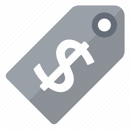 dollar, grey, price, tag icon
