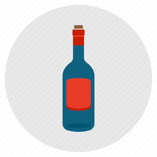 alcohol, bottle, drink, empty, wine icon
