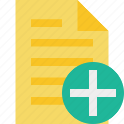 add, document, file, page, text icon