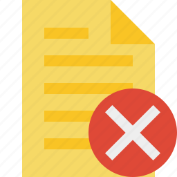 cancel, document, file, page, text icon