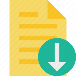 document, download, file, page, text icon