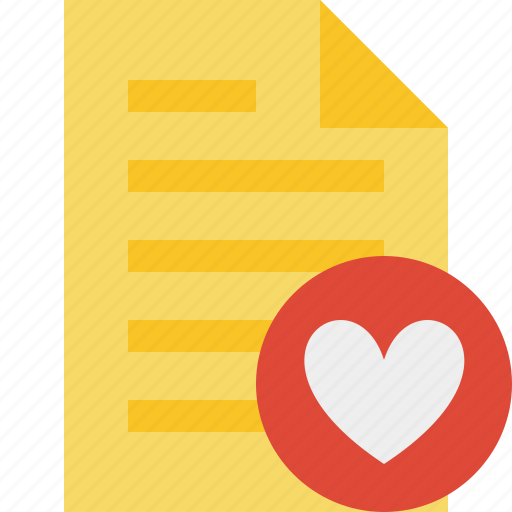 document, favorites, file, page, text icon