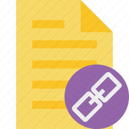 document, file, link, page, text icon
