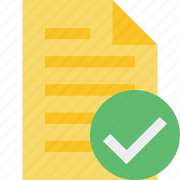 document, file, ok, page, text icon