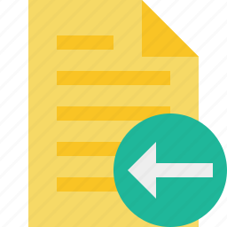document, file, page, previous, text icon