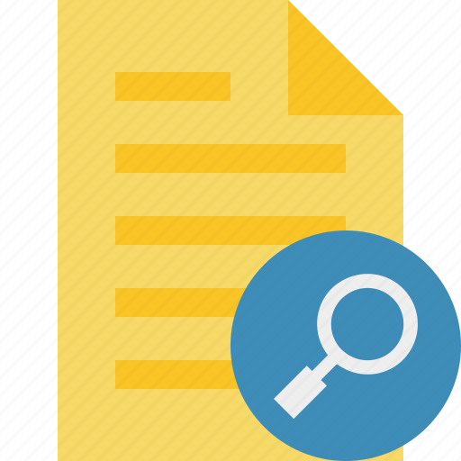 document, file, page, search, text icon