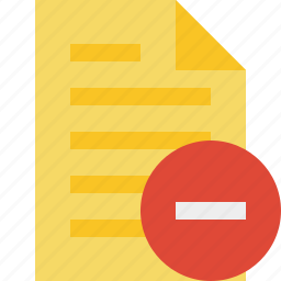 document, file, page, stop, text icon