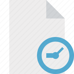 blank, clock, document, file, page icon