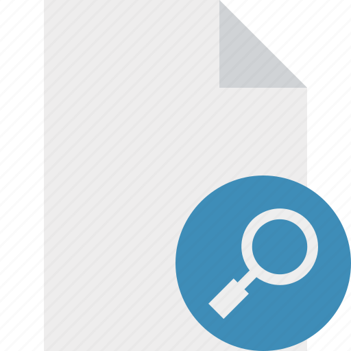 blank, document, file, page, search icon