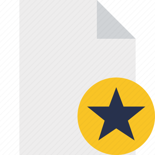 blank, document, file, page, star icon