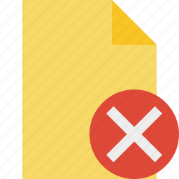 blank, cancel, document, file, page icon