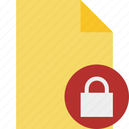 blank, document, file, lock, page icon
