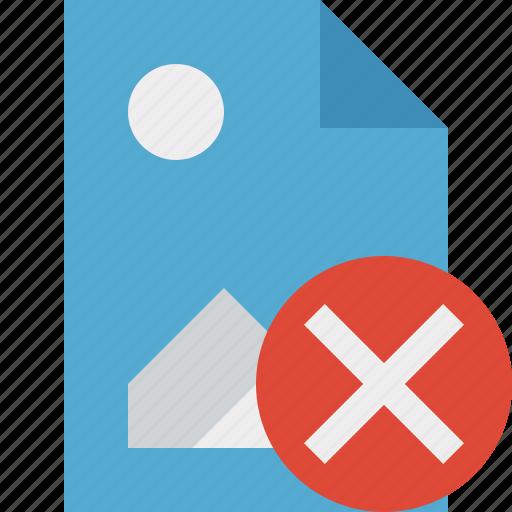 cancel, document, file, image, picture icon