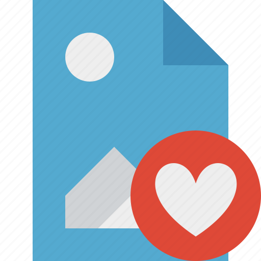 document, favorites, file, image, picture icon