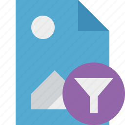 document, file, filter, image, picture icon