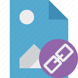 document, file, image, link, picture icon