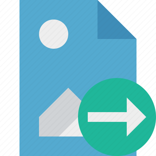 document, file, image, next, picture icon