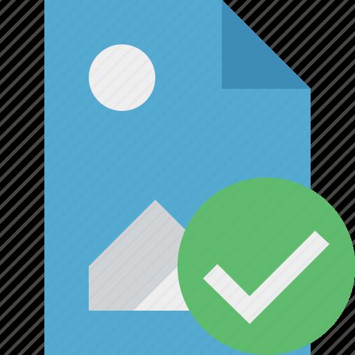 document, file, image, ok, picture icon