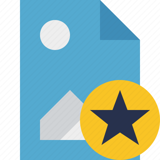 document, file, image, picture, star icon