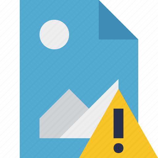 document, file, image, picture, warning icon