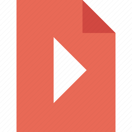 document, file, movie, play, video icon