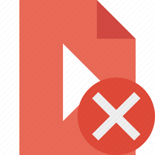 cancel, document, file, movie, play, video icon