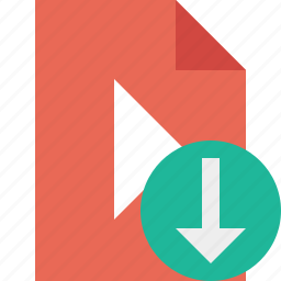 document, download, file, movie, play, video icon