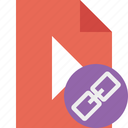 document, file, link, movie, play, video icon