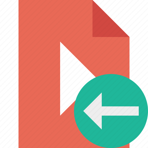 document, file, movie, play, previous, video icon
