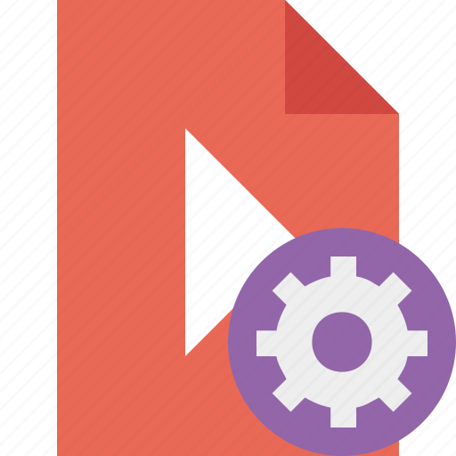 document, file, movie, play, settings, video icon