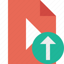 document, file, movie, play, upload, video icon