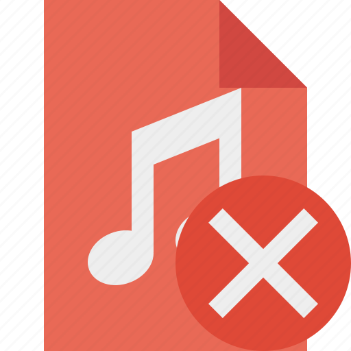 audio, cancel, document, file, music icon