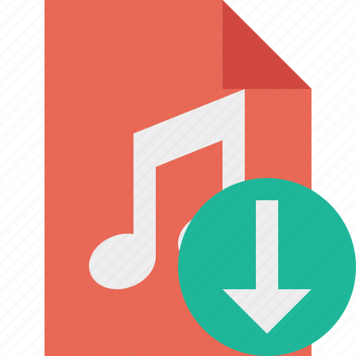 audio, document, download, file, music icon