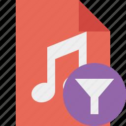 audio, document, file, filter, music icon