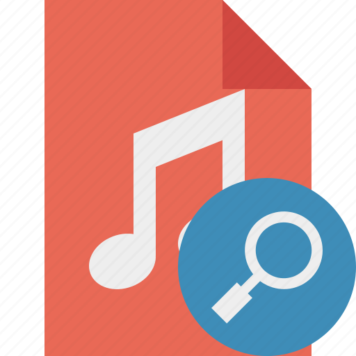 Audio, document, file, music, search icon - Download on Iconfinder