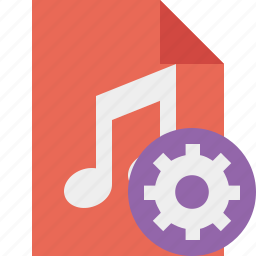 audio, document, file, music, settings icon