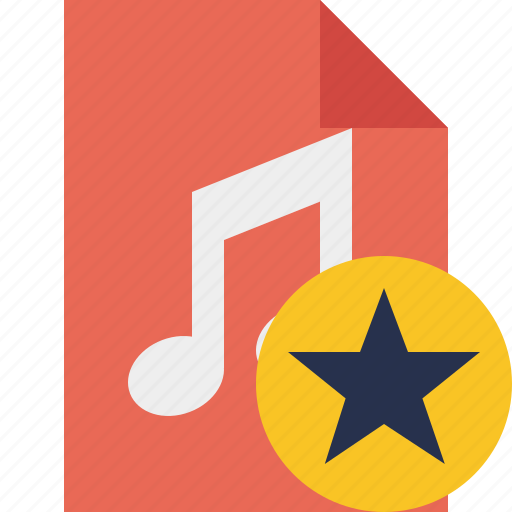 audio, document, file, music, star icon