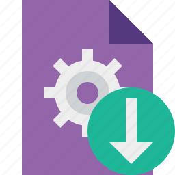 document, download, file, options, page, settings icon