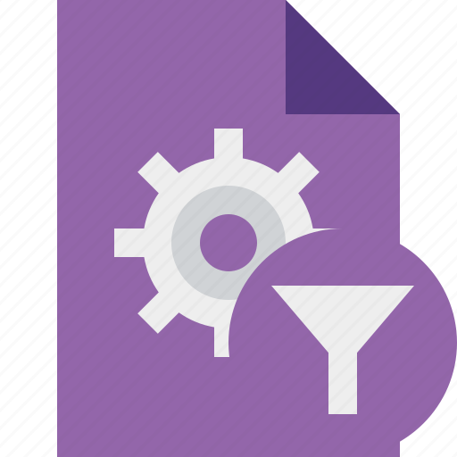 document, file, filter, options, page, settings icon