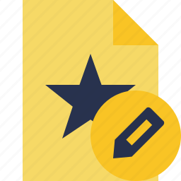 document, edit, favorite, file, star icon