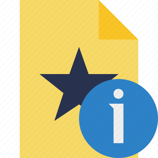 document, favorite, file, information, star icon