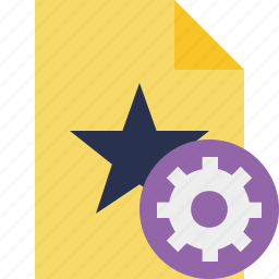 document, favorite, file, settings, star icon